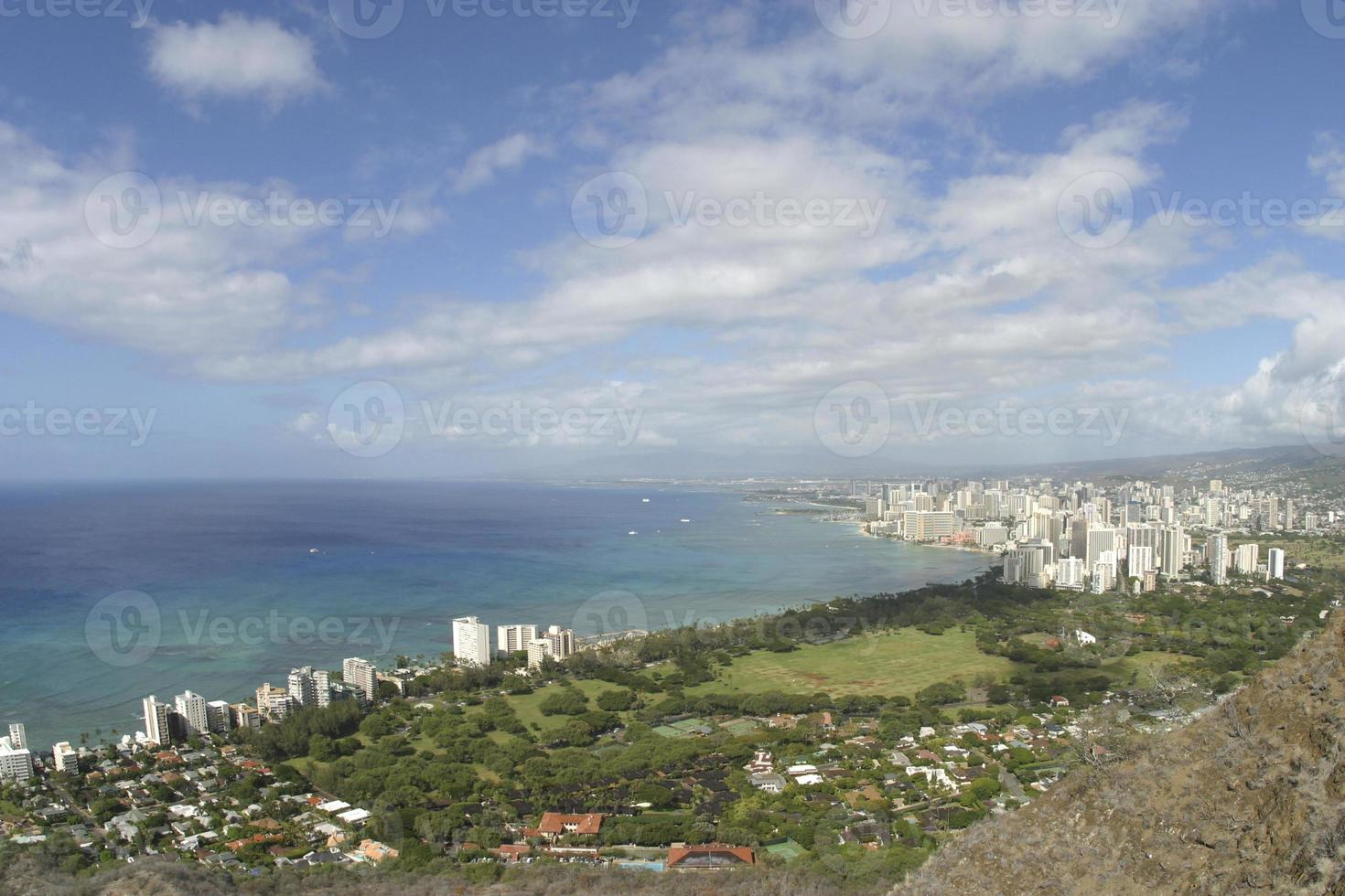 Honolulu from Diamond Head photo