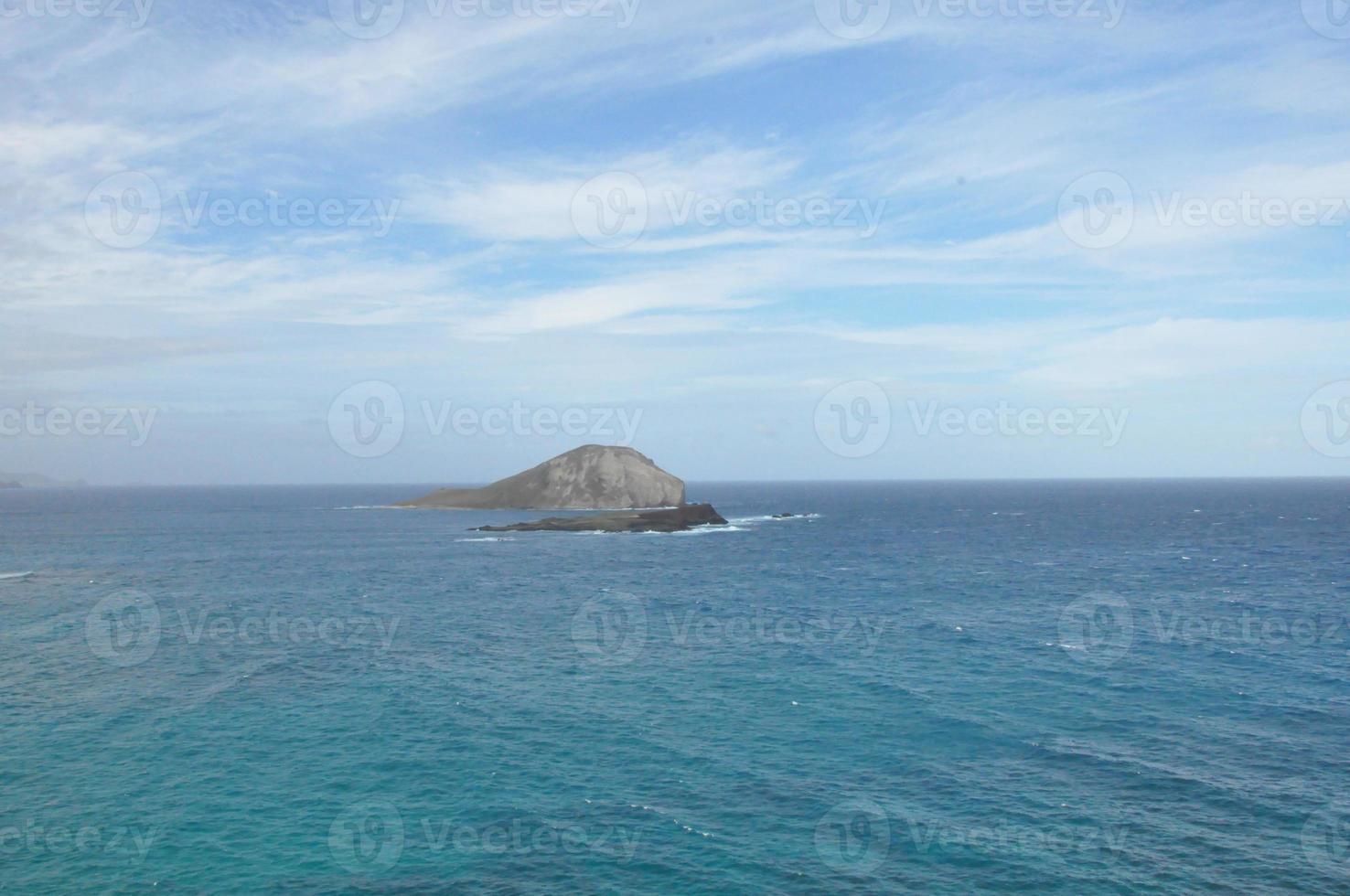 View of Rabbit Island from Makapuu Lookout in Oahu, Hawaii photo