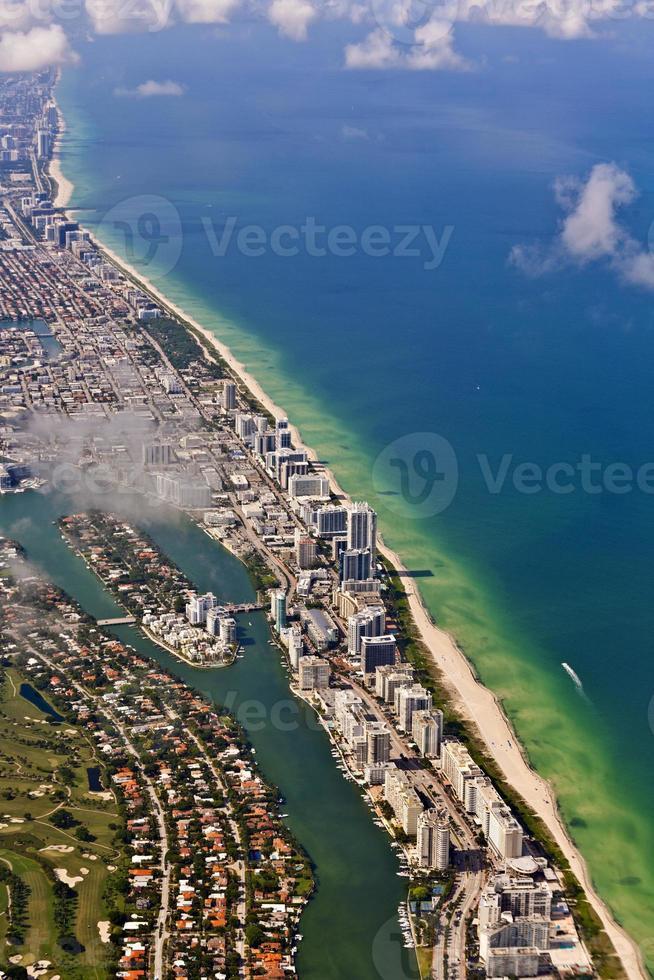 aerial of Miami beach photo