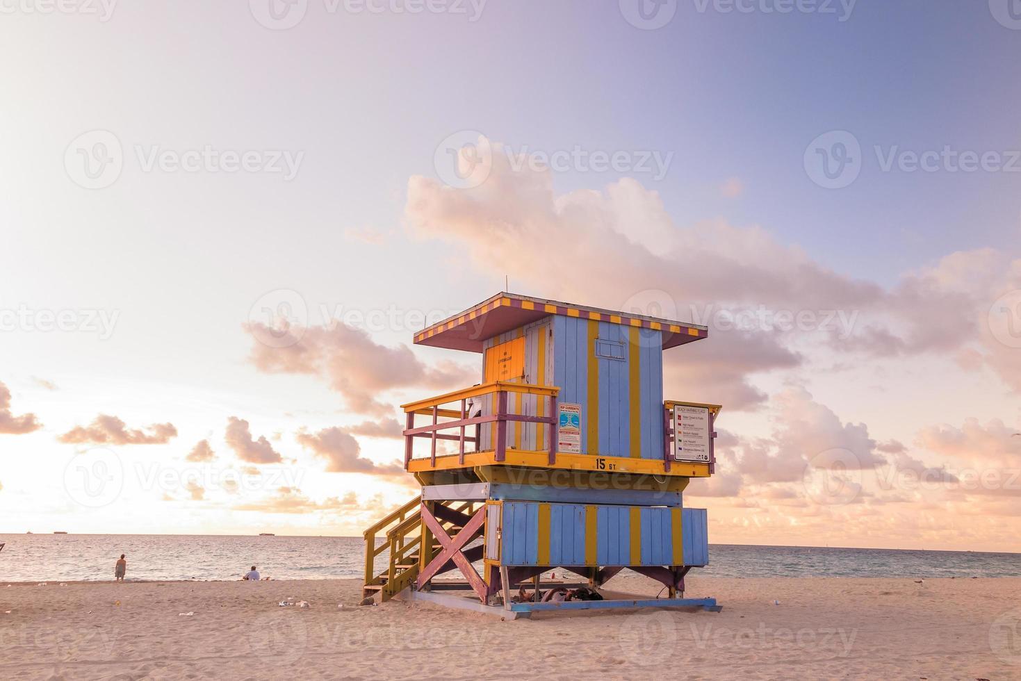Torre de salvavidas en South Beach, Miami Beach, Florida foto