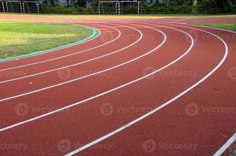 Running track closeup photo