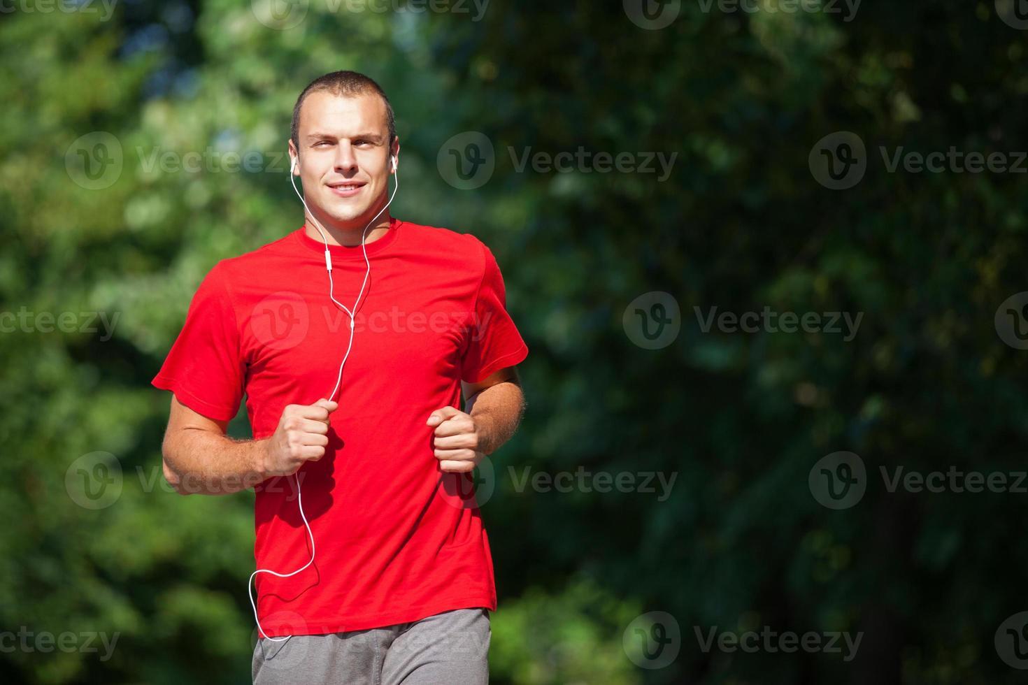 Running fitness man photo