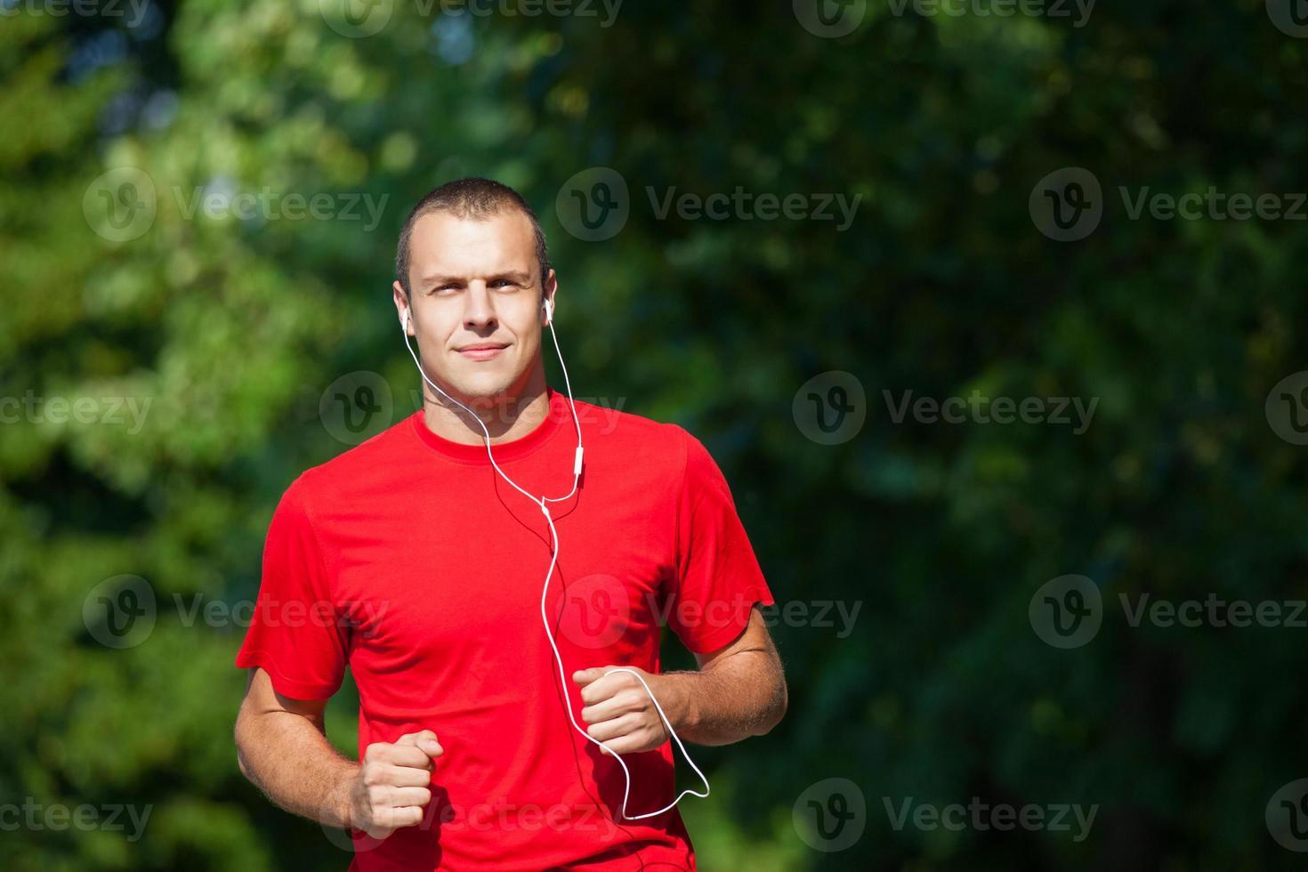 hombre corriendo fitness foto
