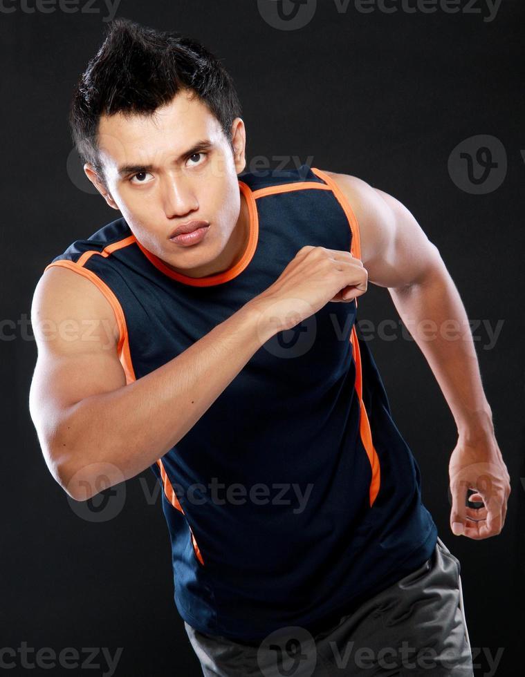 man running photo
