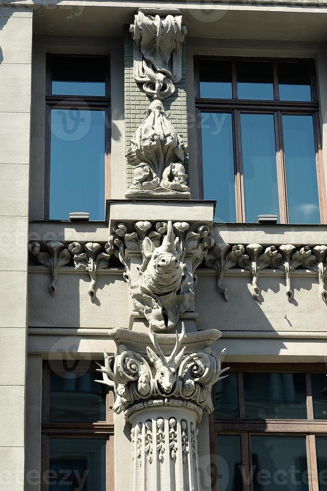 House with chimeras in Kiev photo