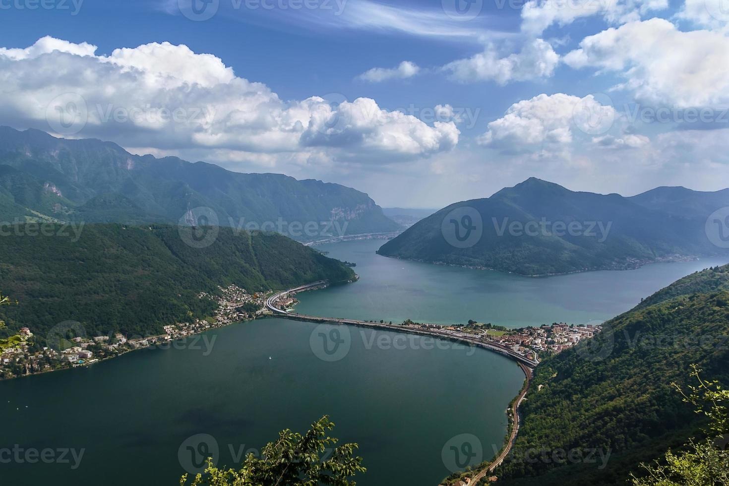 Lake Lugano, Switzerland photo