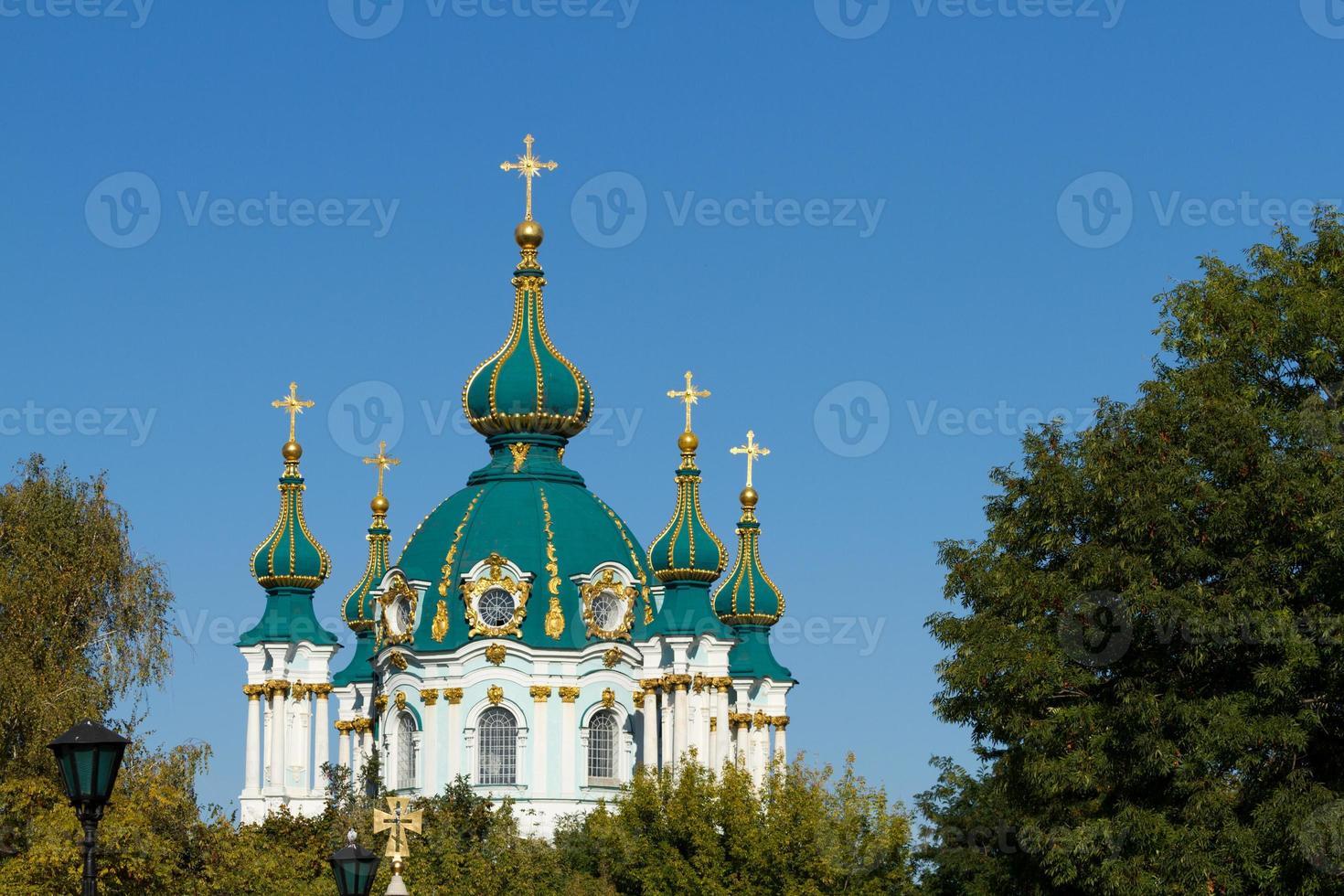 S t. la iglesia de andrew en kyiv foto