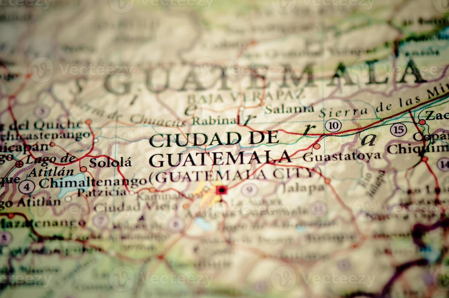 Guatemala on a map. photo