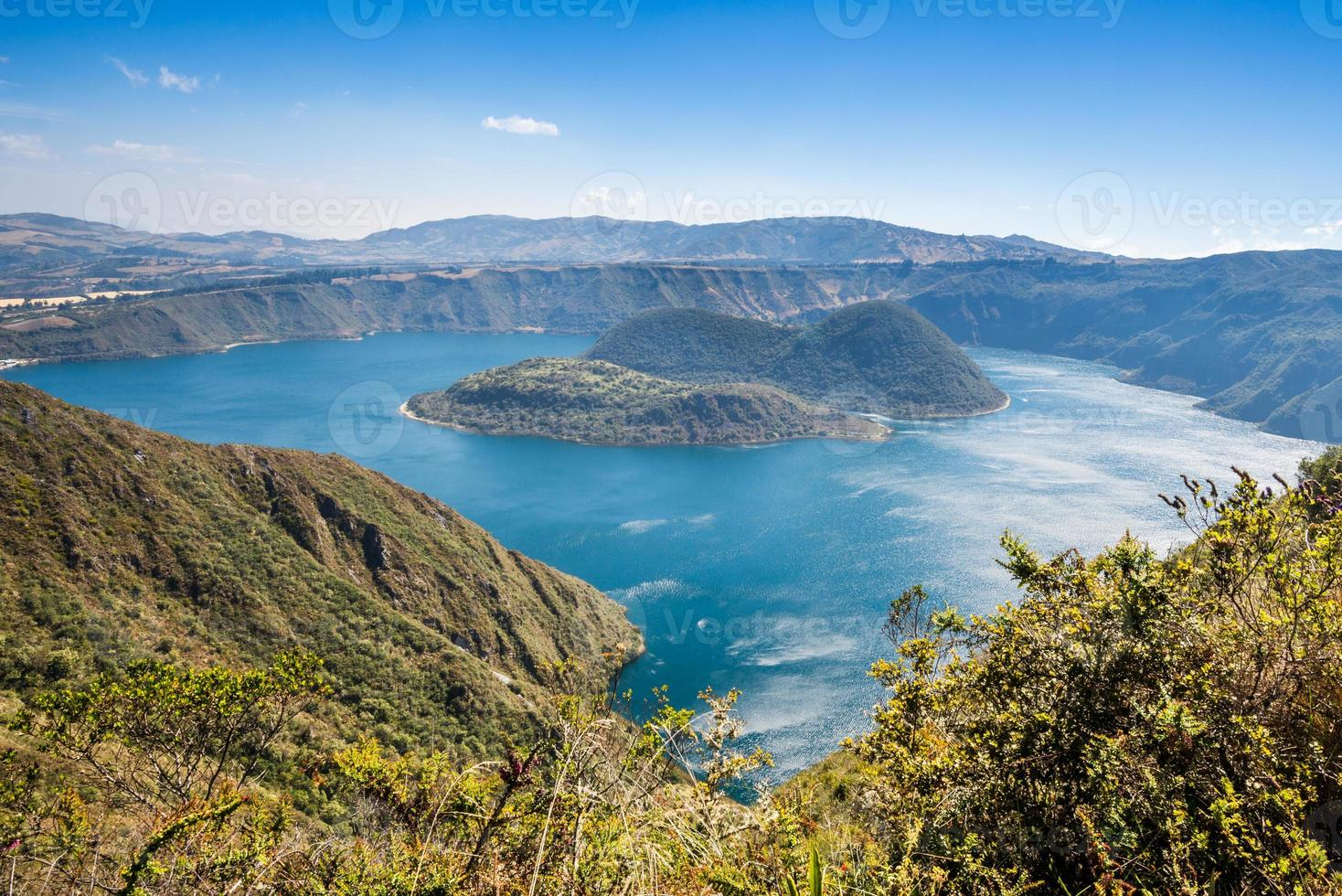 Cuicocha crater lake, Reserve Cotacachi-Cayapas, Ecuador photo