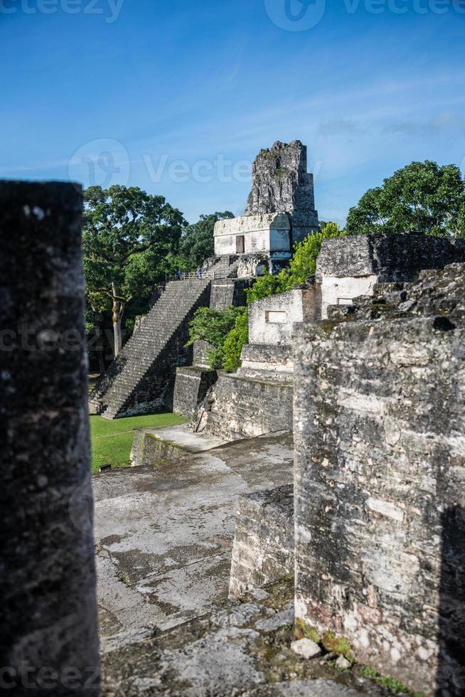 Mayan ruins at Tikal, National Park. Traveling Guatemala. photo