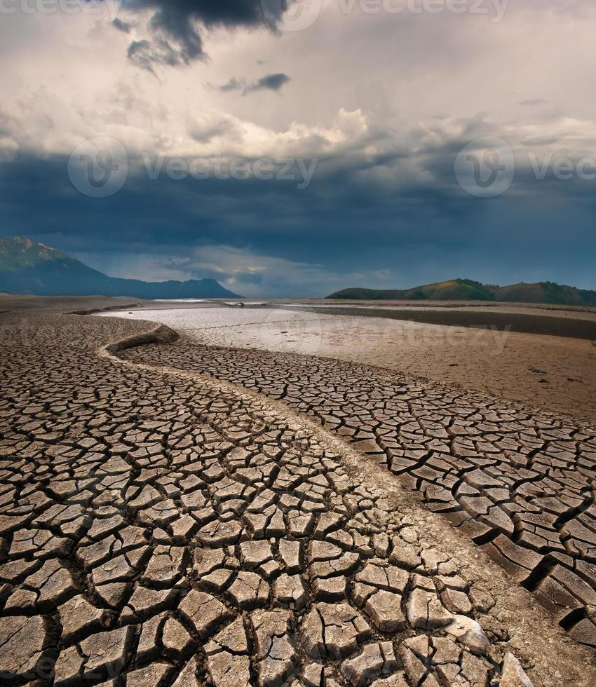 Dry lake bed photo