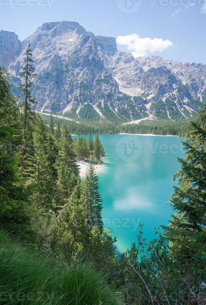 Lake Braies, Dolomites photo