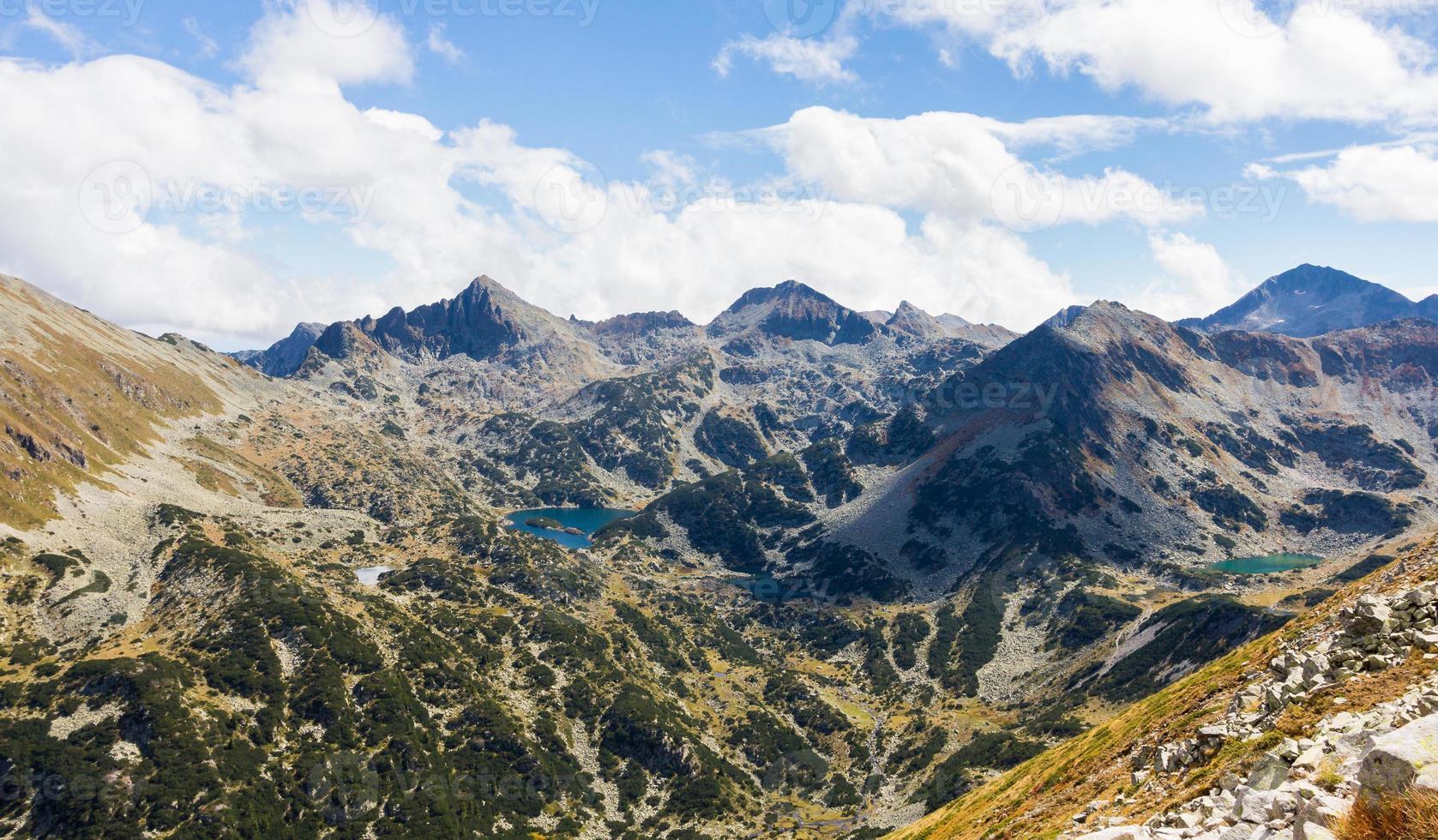 Mountains and lakes. photo