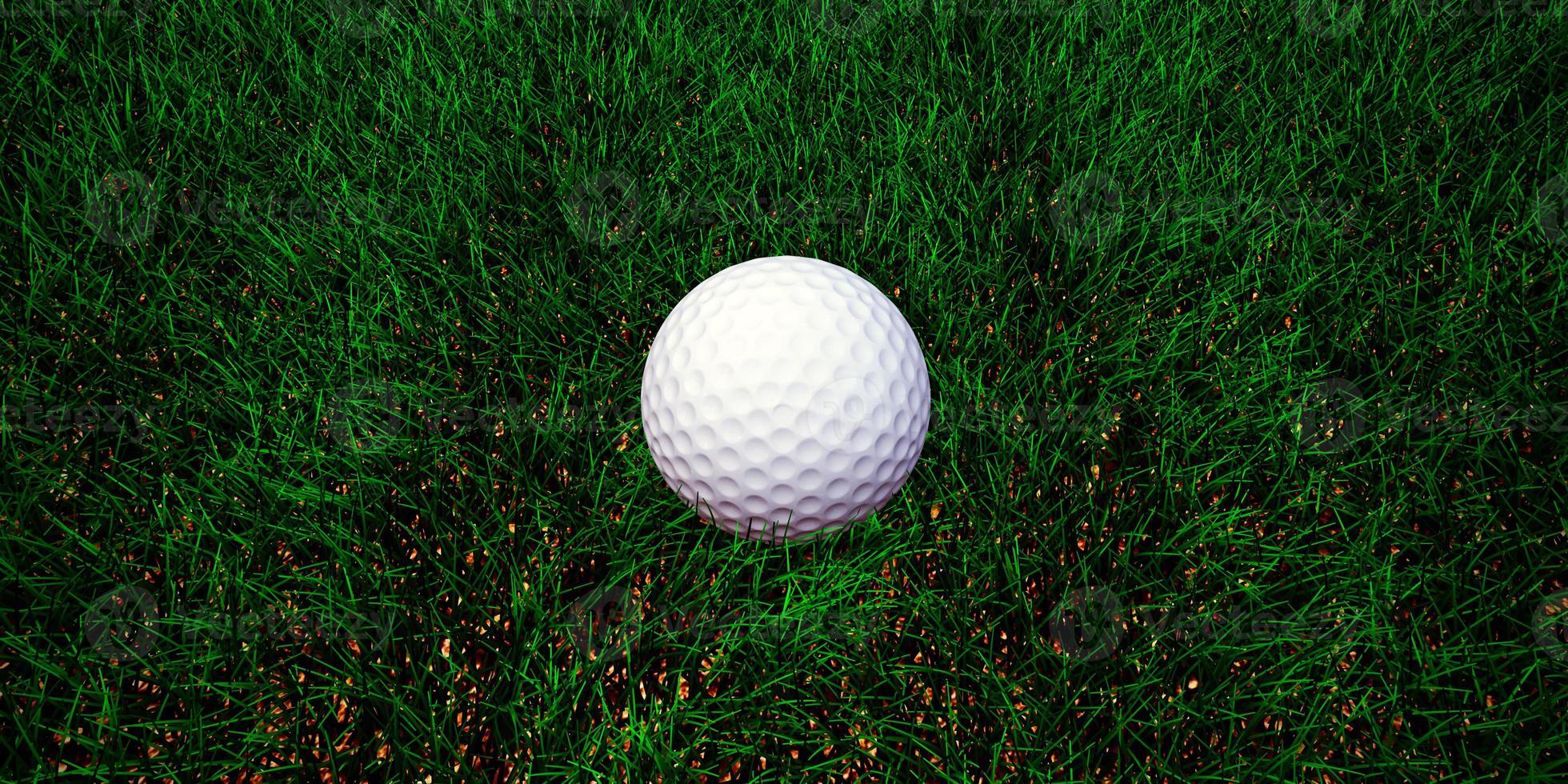 golf ball on green grass photo