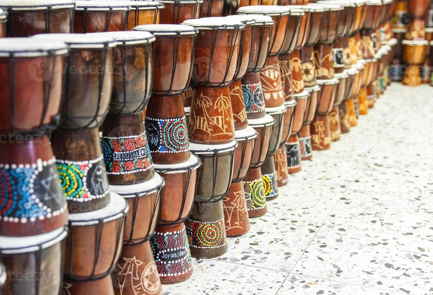 Arabic darbuka market . photo