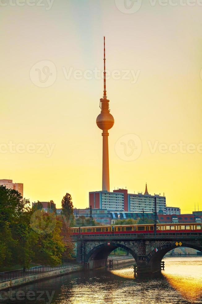 Berlin cityscape early in the morning photo