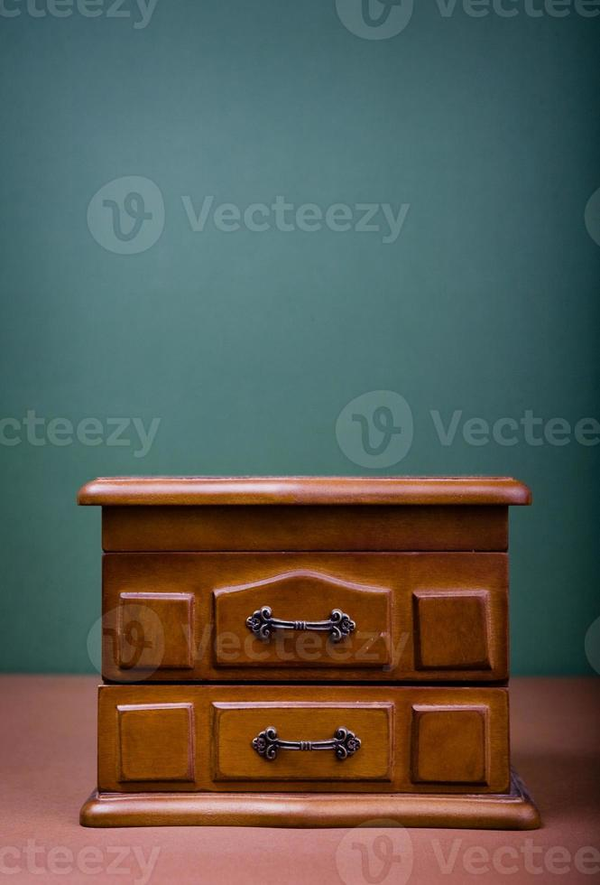 Wooden casket for jewelry photo