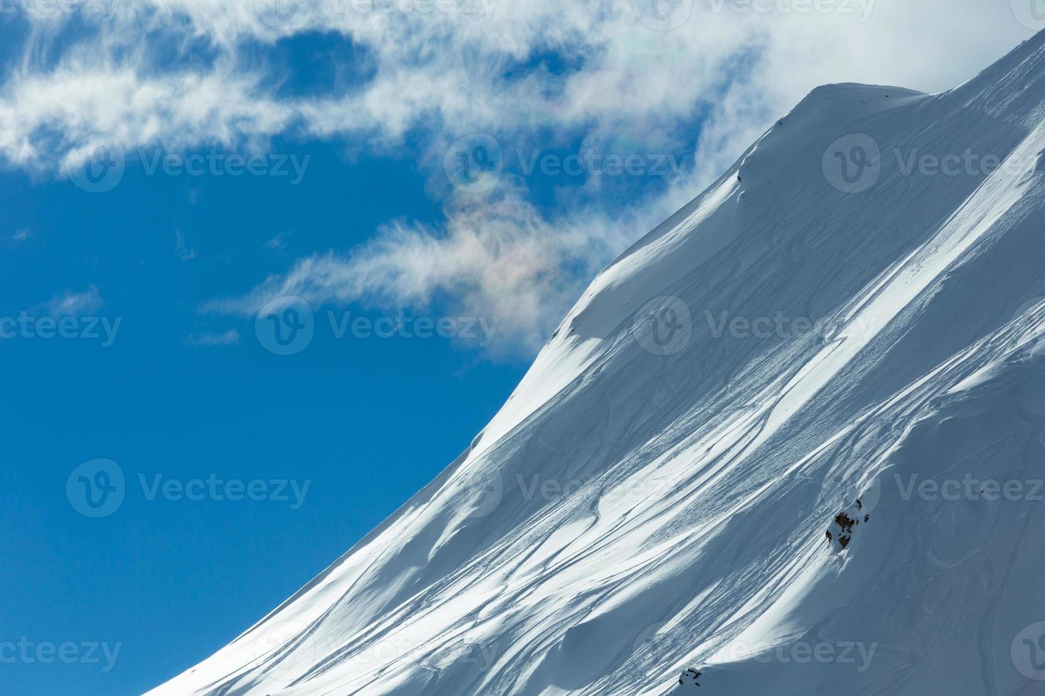 Silvretta Alpes vista de invierno (Austria). foto