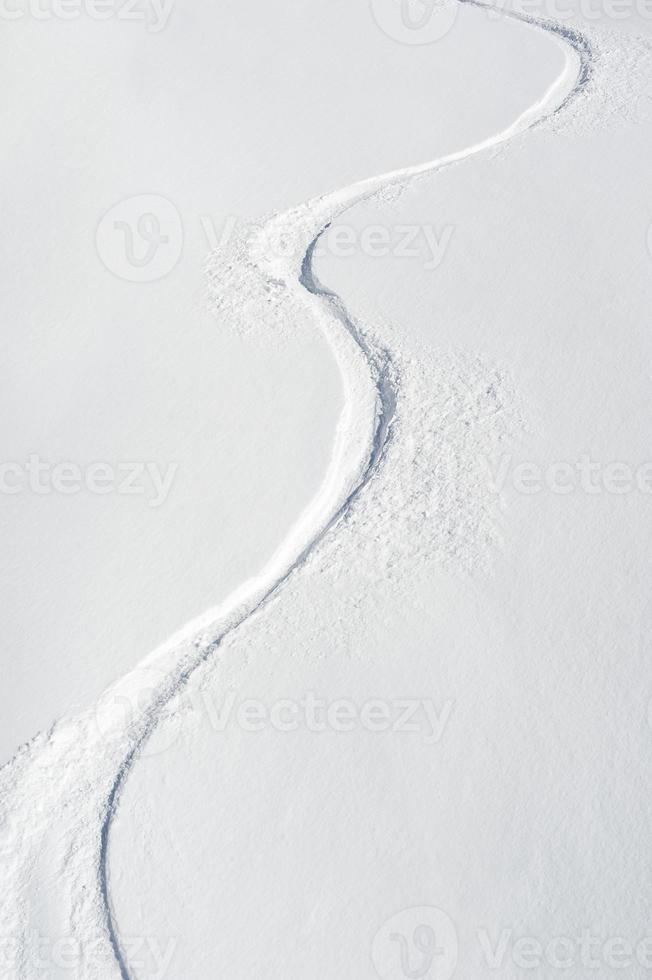 Ski Tracks on a Slope photo