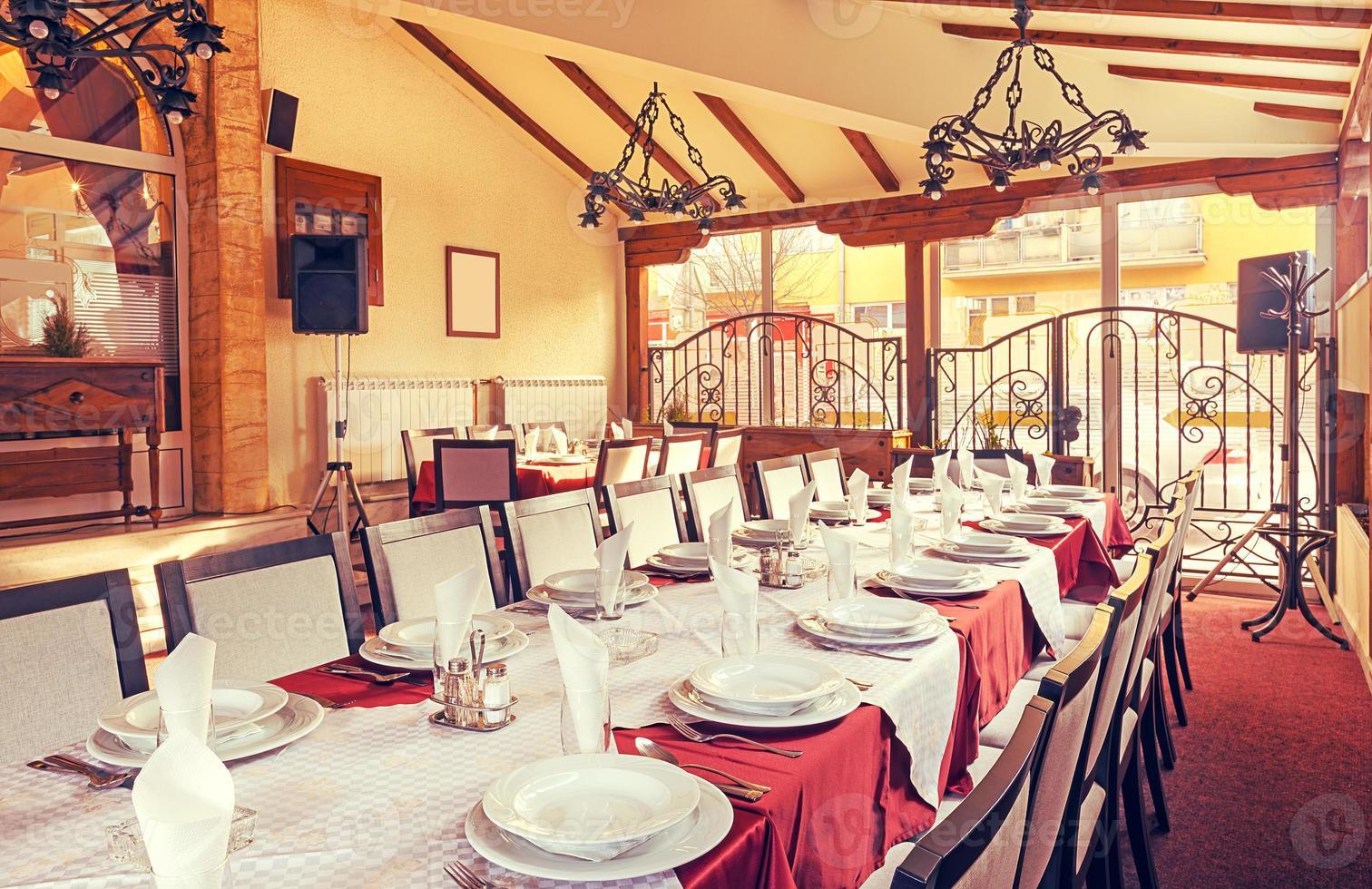 interior del restaurante foto