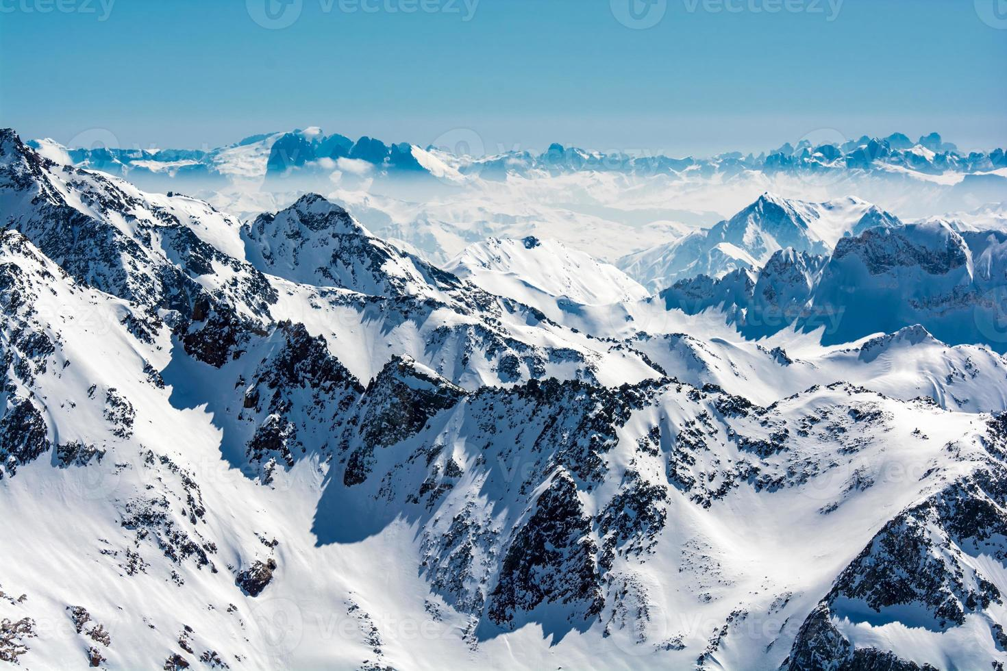 Ski resort of Neustift Stubai glacier Austria photo