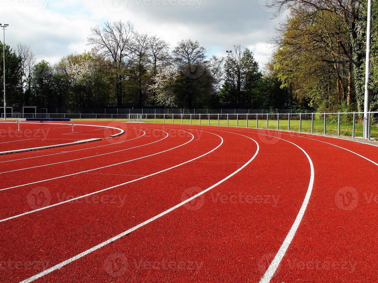 fondo de la pista de atletismo foto