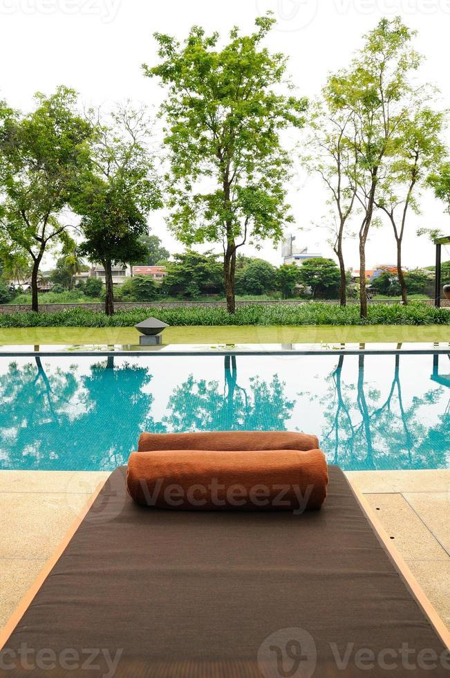 Relájate en la piscina. foto