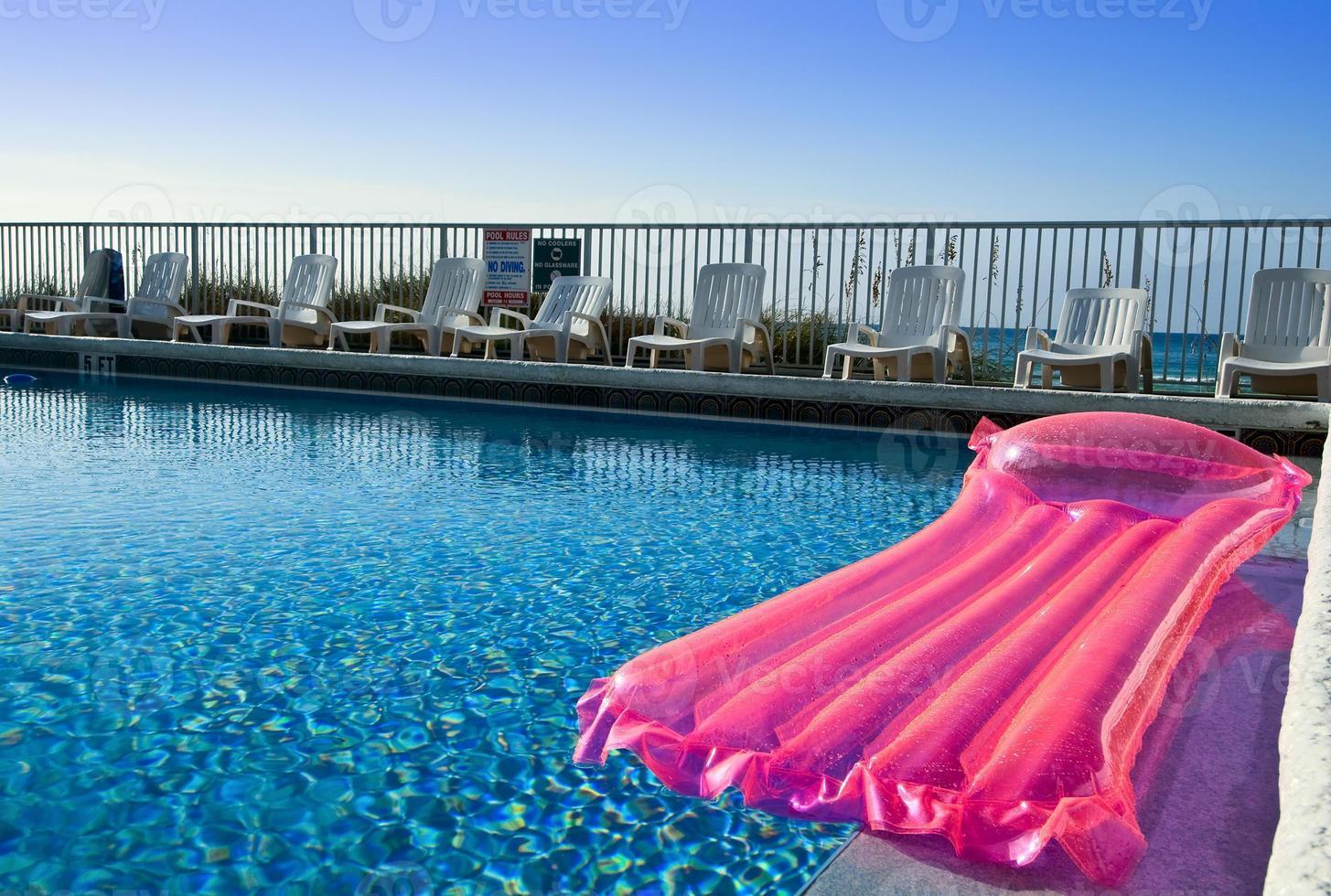Pink air mattress photo