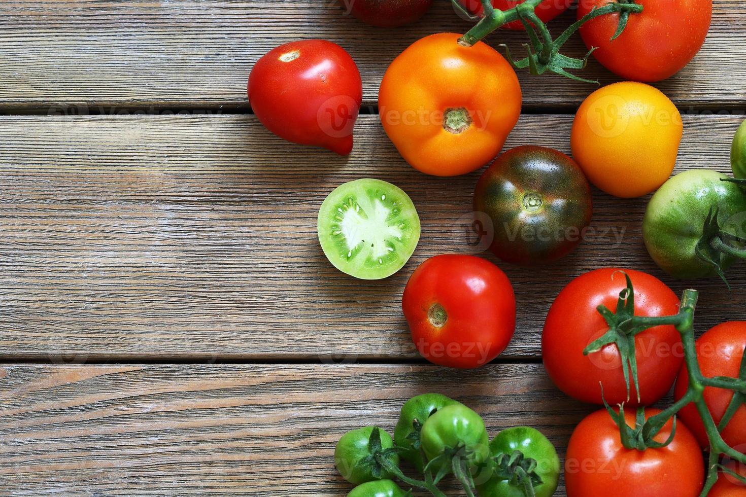 fresh ripe tomatoes photo