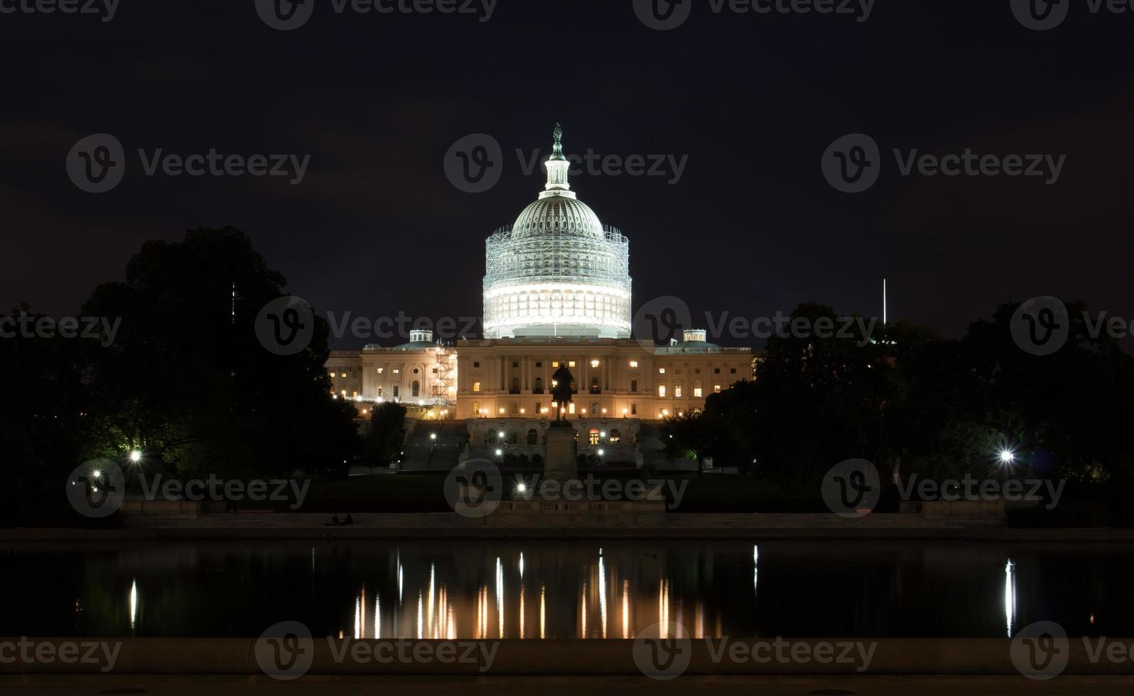 United States Capitol Building at Night photo