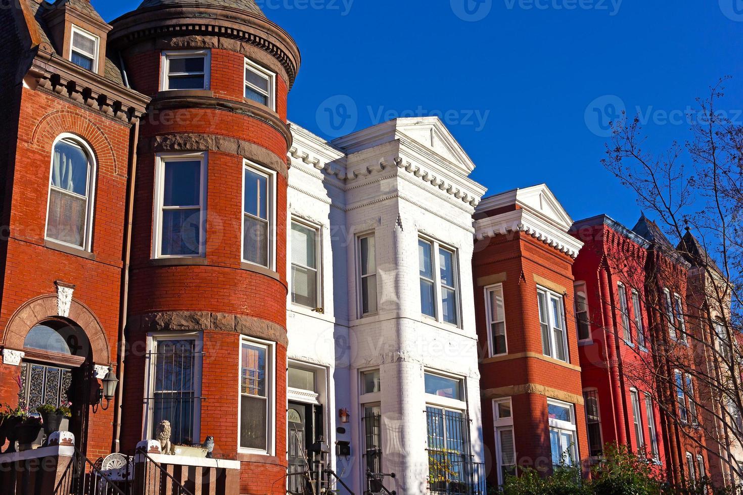arquitectura urbana histórica en el suburbio de Mount Vernon de Washington DC. foto