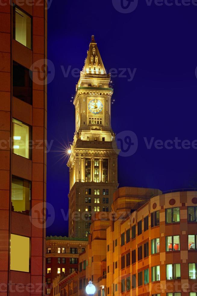 Torre del reloj de Boston Custom House Massachusetts foto