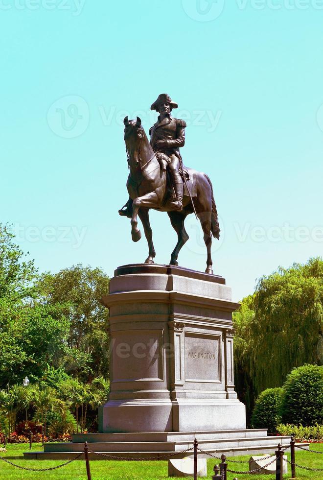George Washington Statue in Boston Park photo