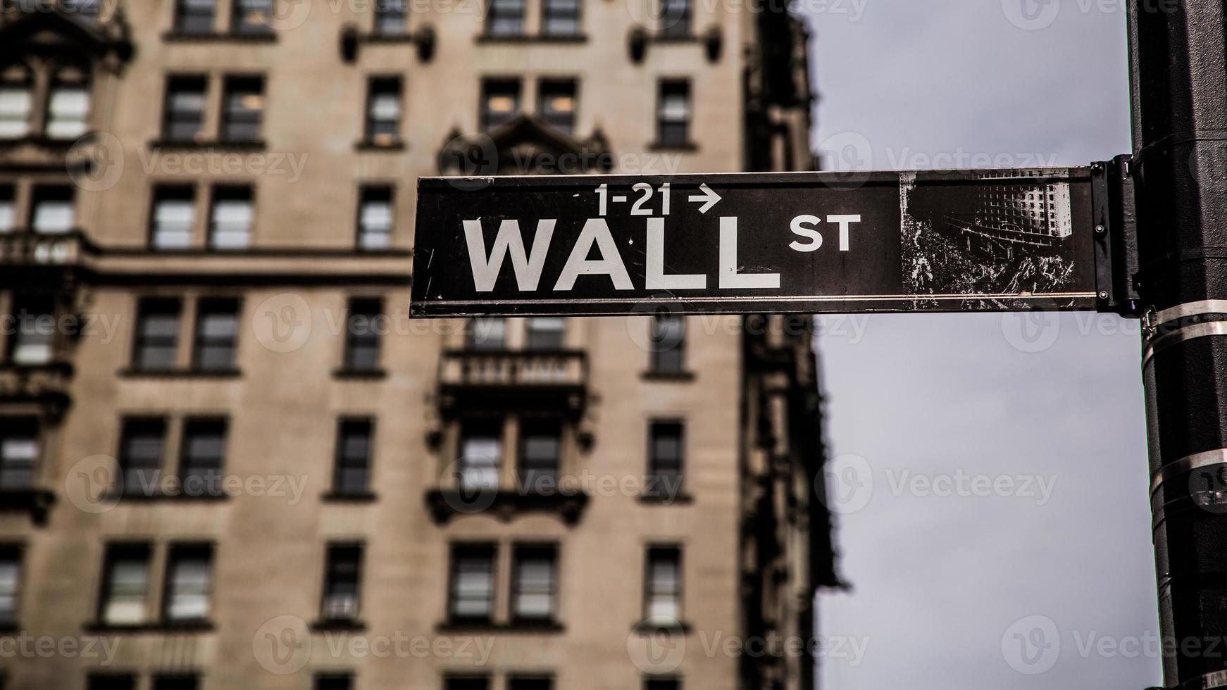 Wall Street Sign photo