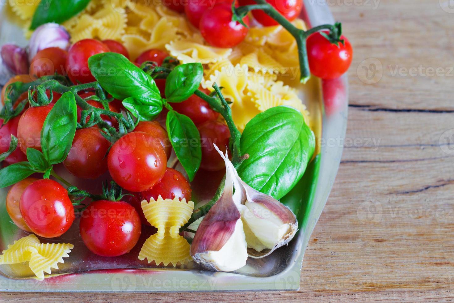 fresh organic cherry tomatoes photo