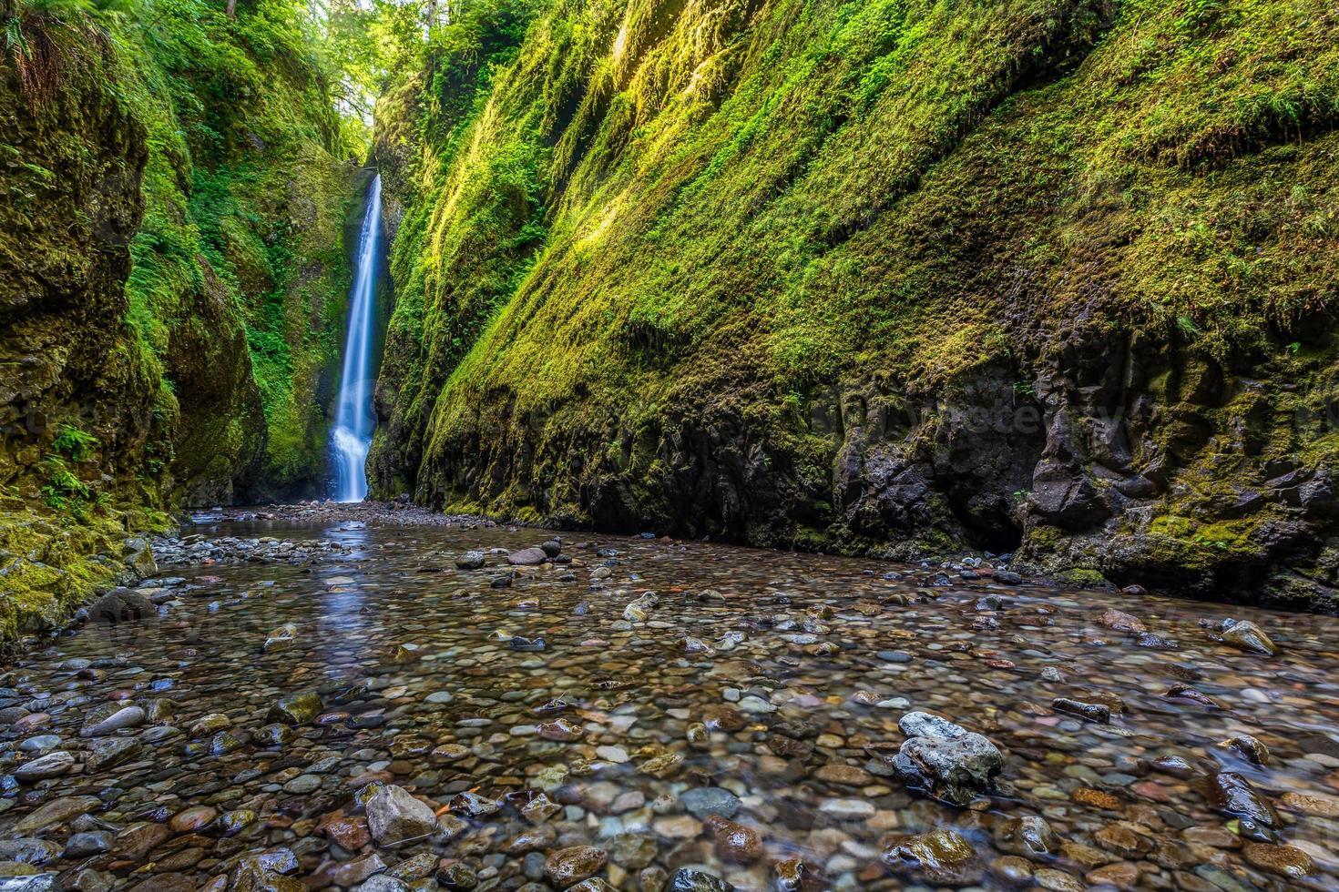 Oneonta baja cae en la garganta del río Columbia, Oregon foto