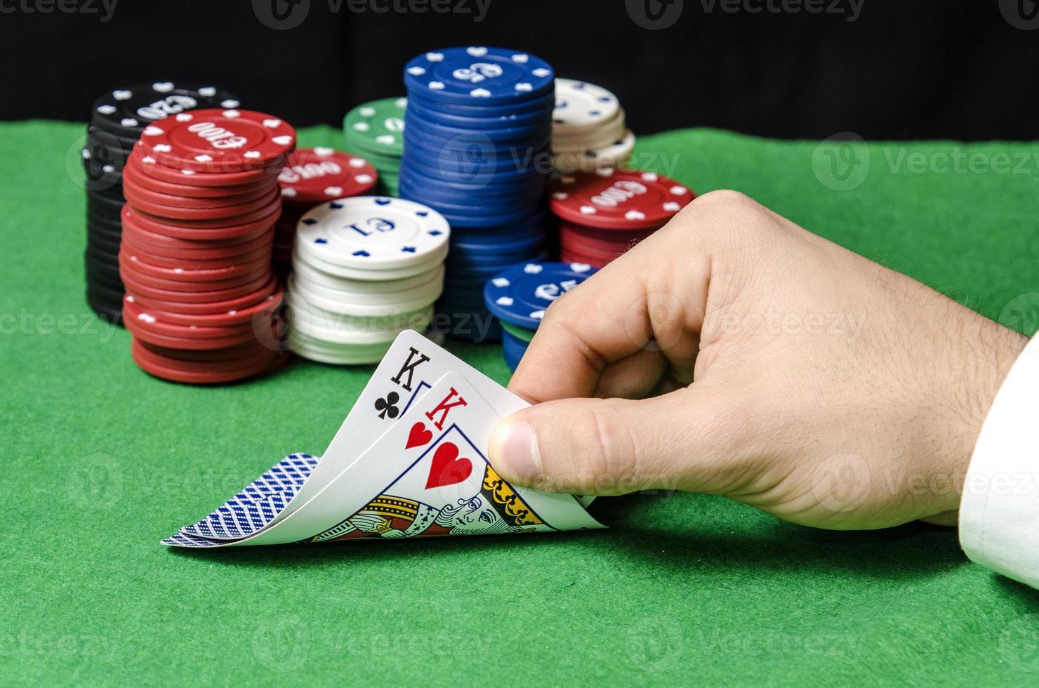 pair of kings in poker photo