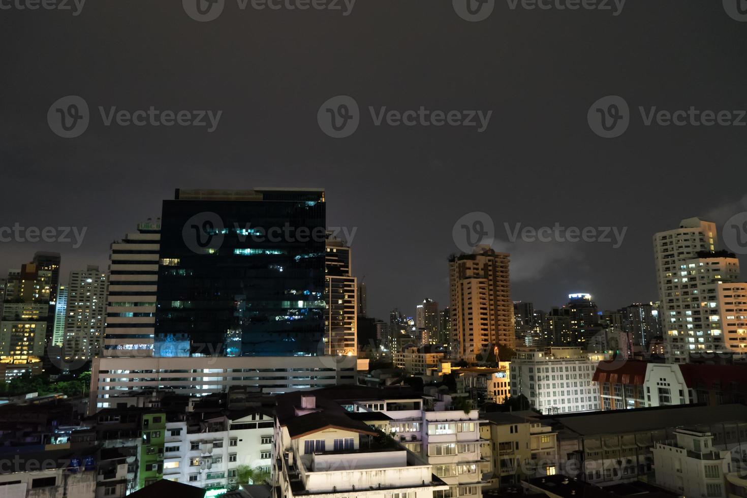 Bangkok Night Skyscraper photo
