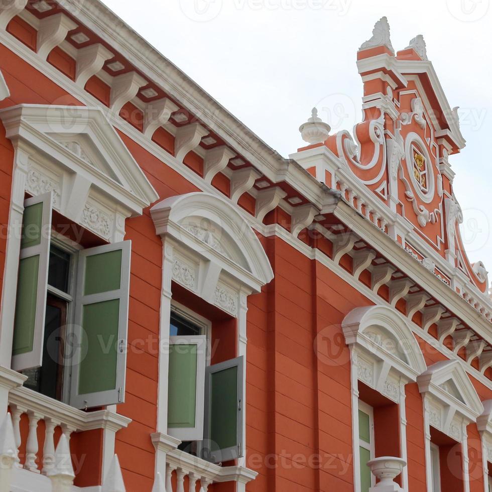 Ancient building in Bangkok photo