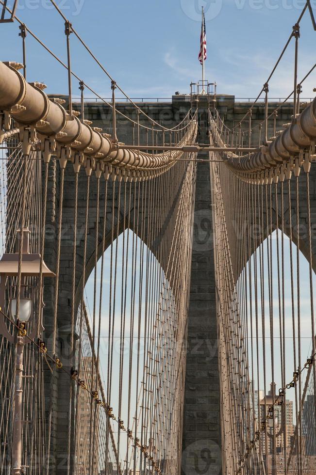 Puente de Brooklyn en Nueva York foto