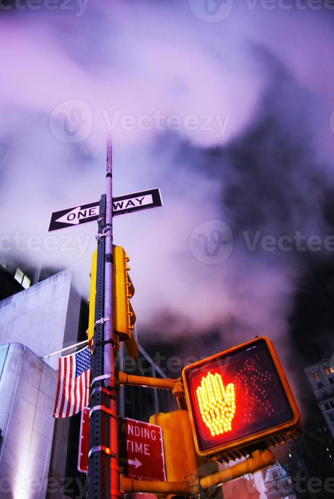Manhattan street   New York City,  USA photo