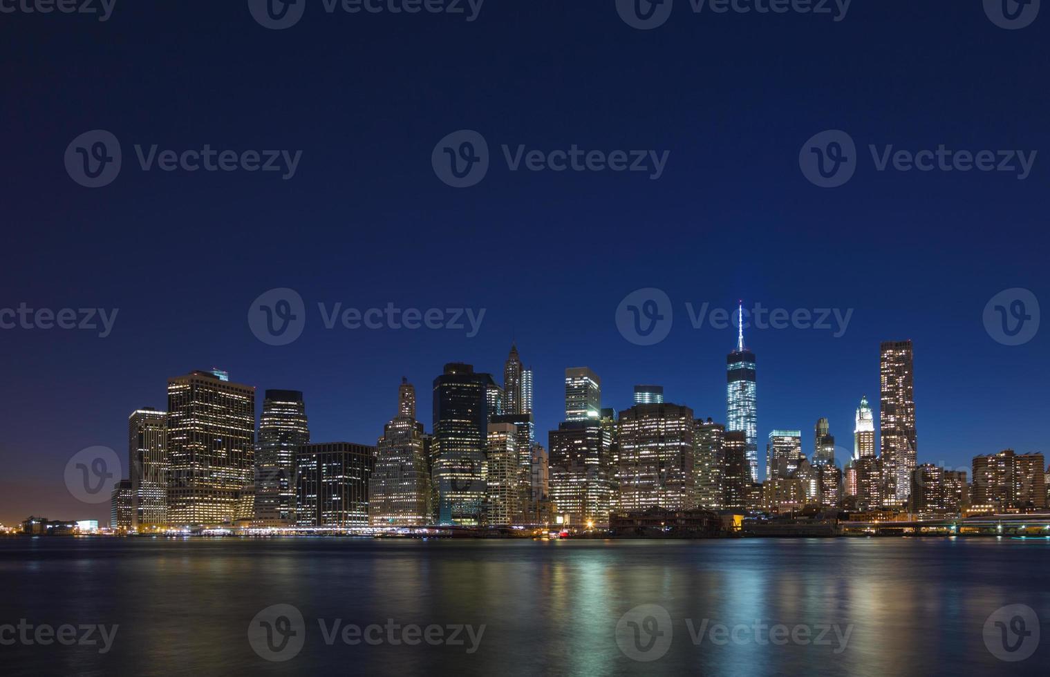 Manhattan night view photo