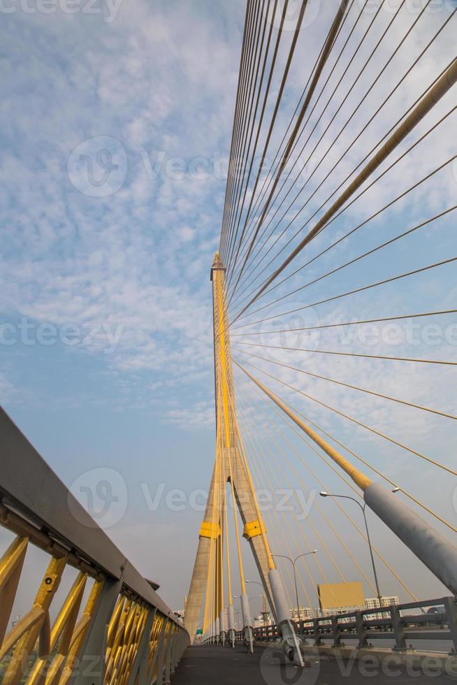 Mega bridge in Bangkok,Thailand (Rama 8 Bridge) photo