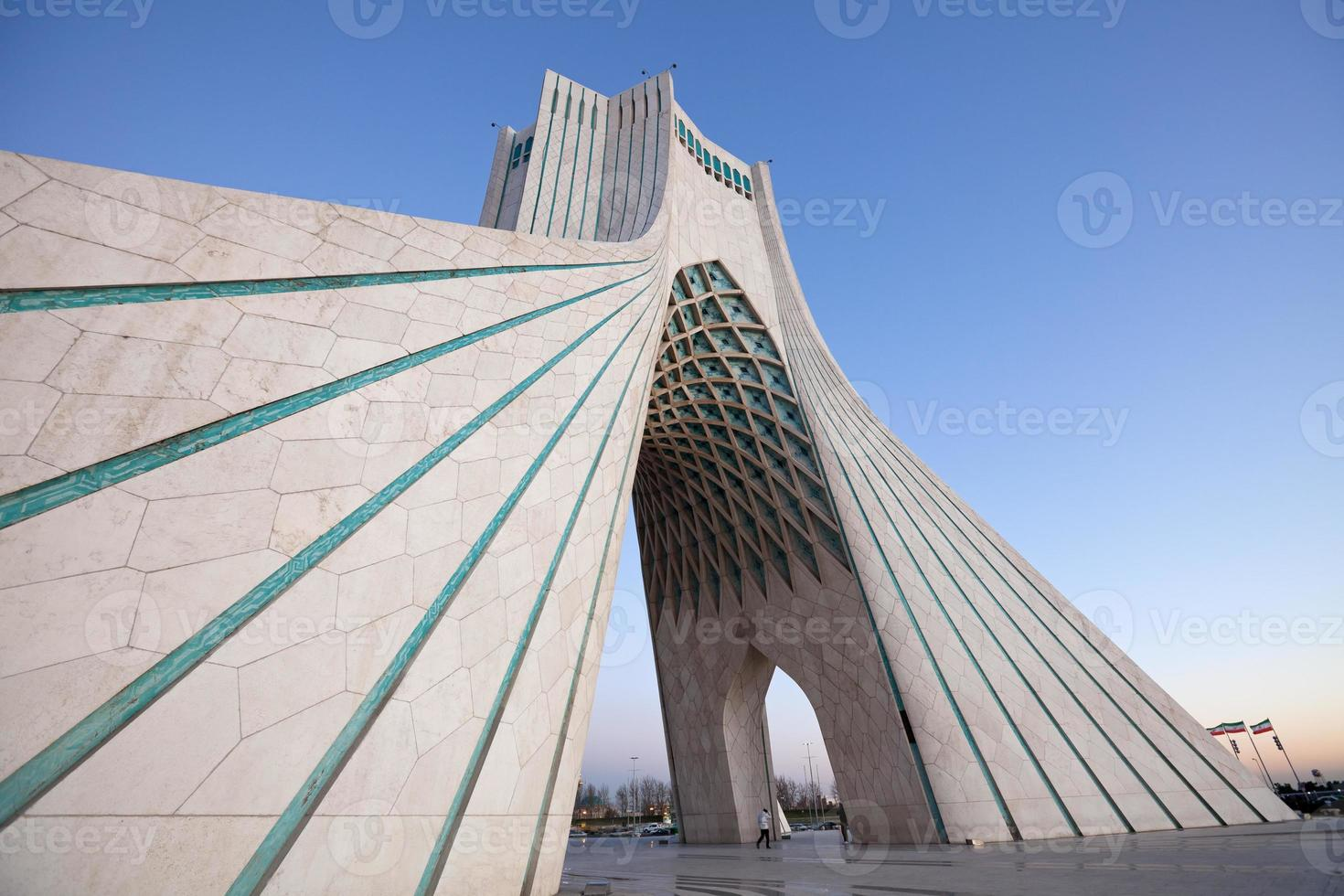 Azadi Monument Side Perspective in Dusk photo