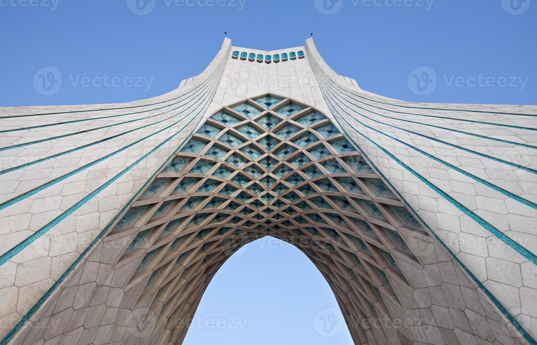 Under Azadi monument in Tehran photo