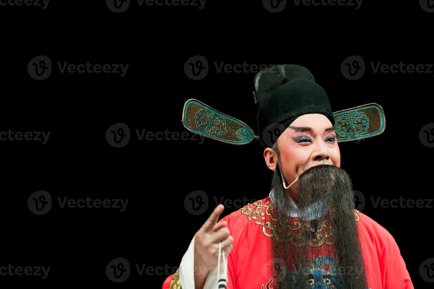 china opera man in red photo