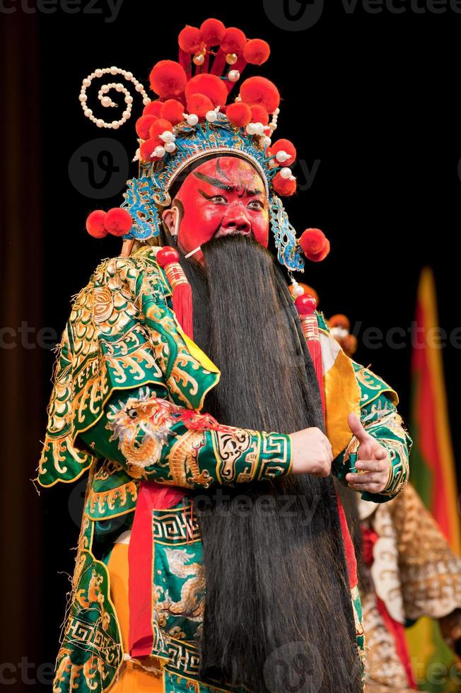 china opera man with red face photo