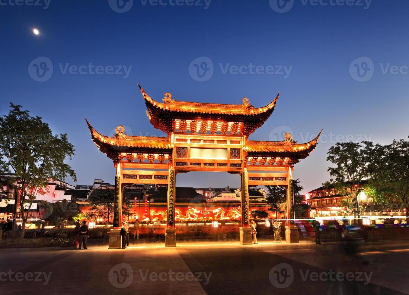 China Nanjing Wooden Gate lights photo