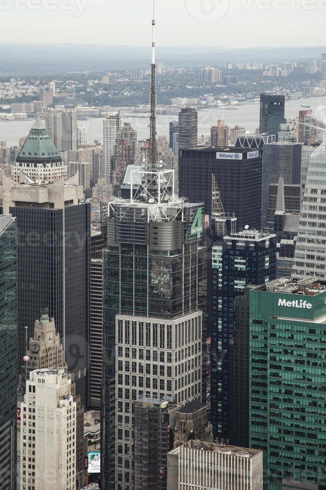 Arerial view of Manhattan photo