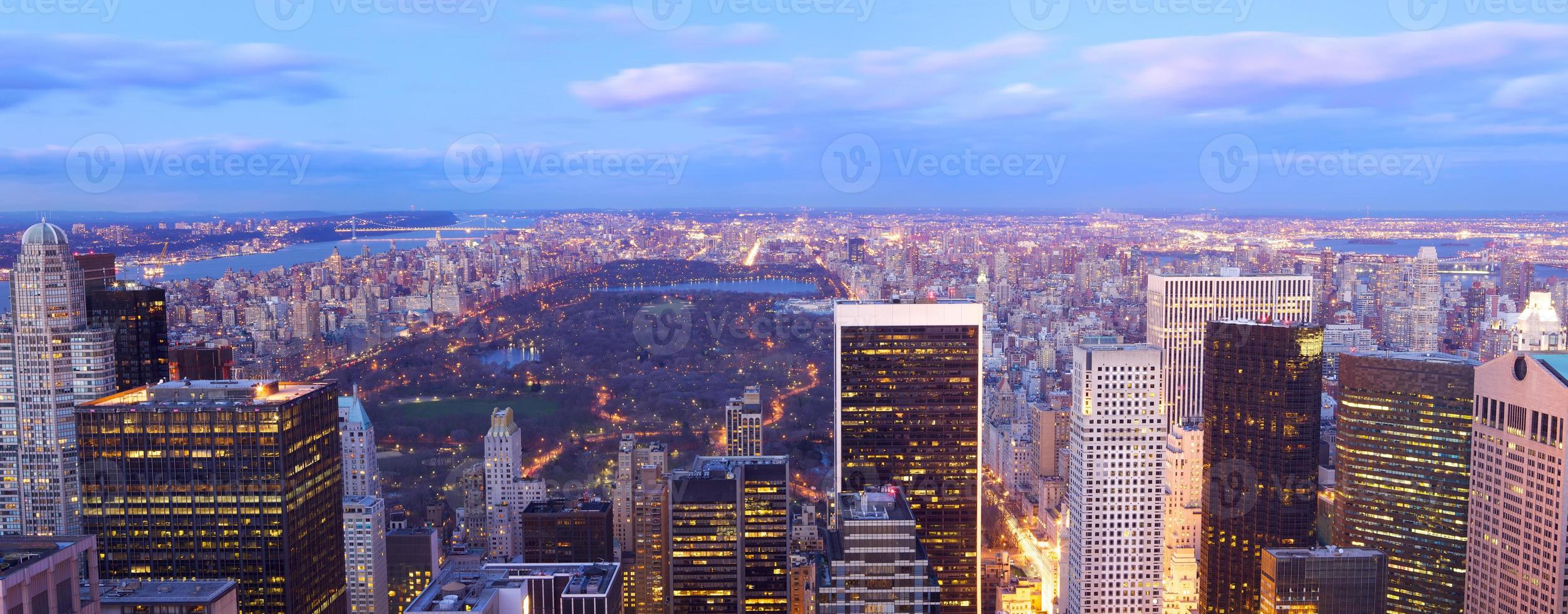 Central Park aerial view panorama photo